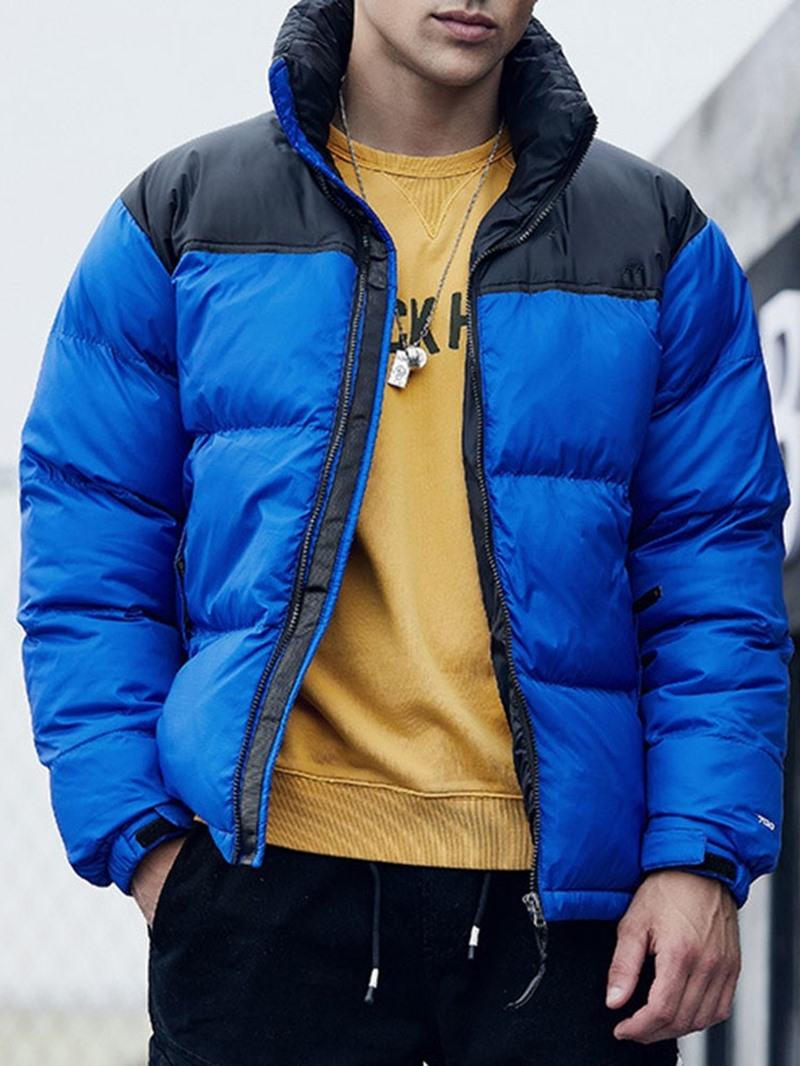 Ericdress Standard Color Block Men's Down Jacket