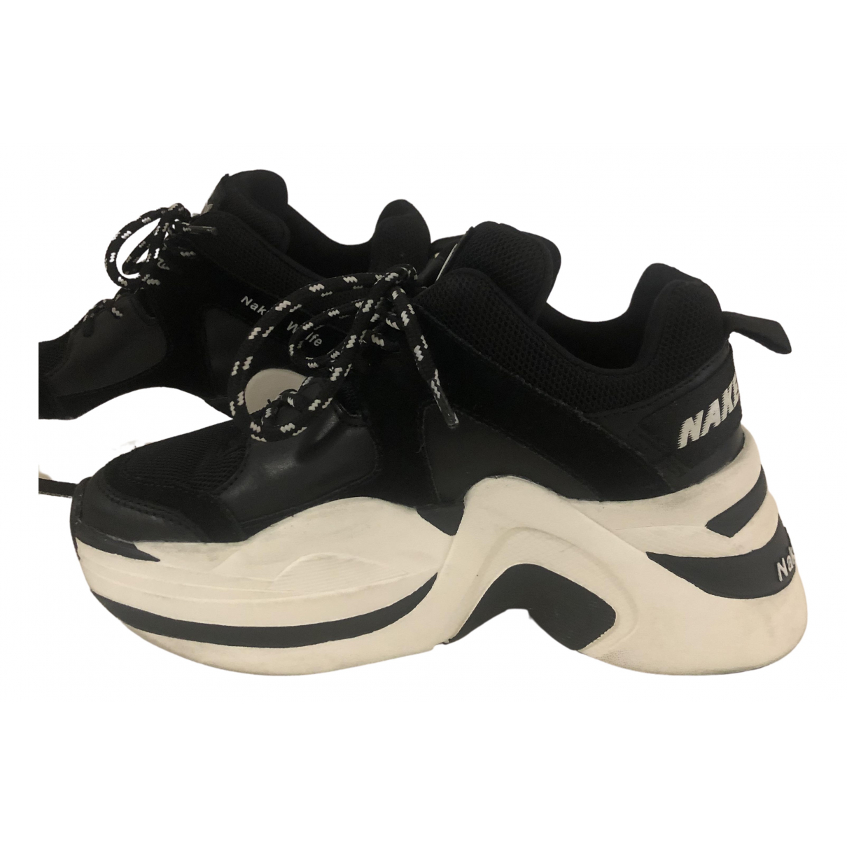 Naked & Famous \N Black Leather Trainers for Women 36 EU