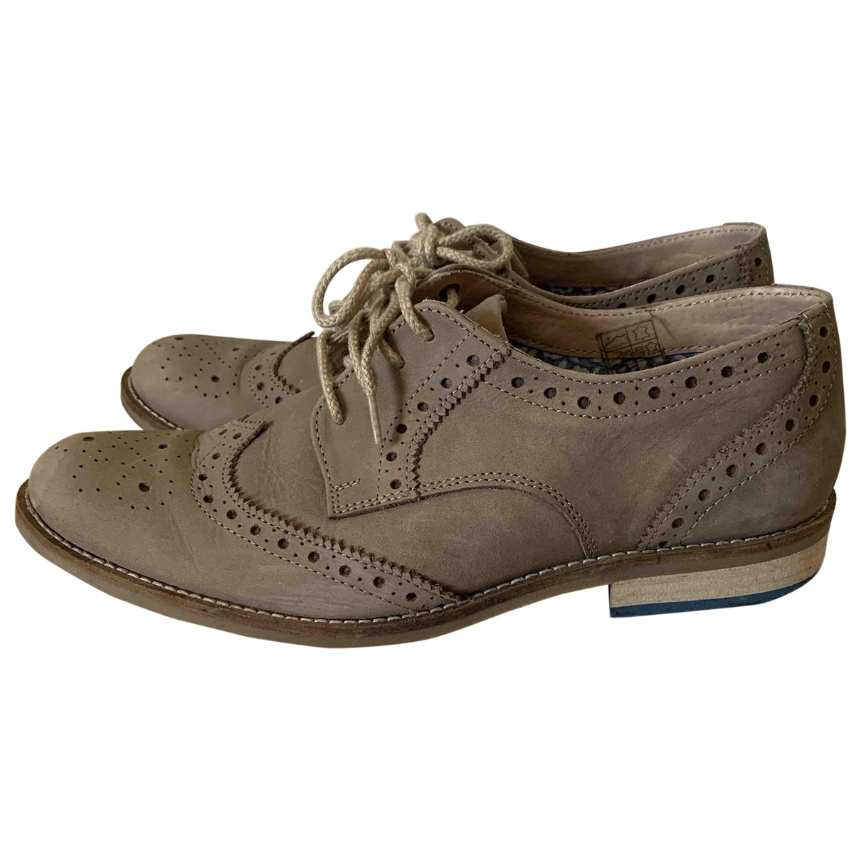 Non Signé / Unsigned \N Beige Suede Lace ups for Men 8 UK