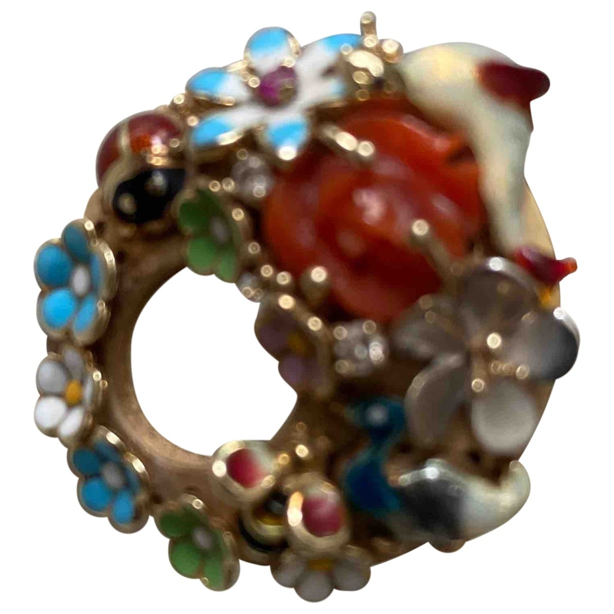 Non Signé / Unsigned \N Multicolour Yellow gold ring for Women 55 MM