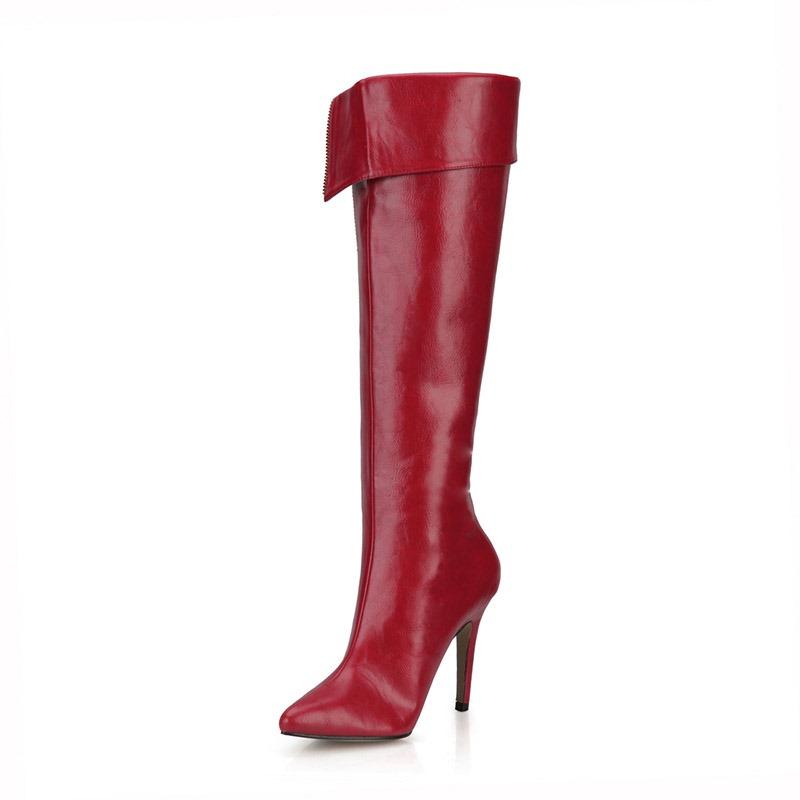 Ericdress Pointed Toe Stiletto Heel Side Zipper Women's Boots