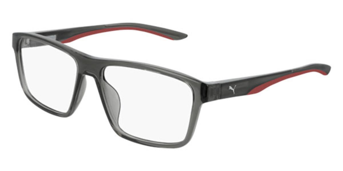 Puma PU0209O 003 Men's Glasses  Size 56 - Free Lenses - HSA/FSA Insurance - Blue Light Block Available