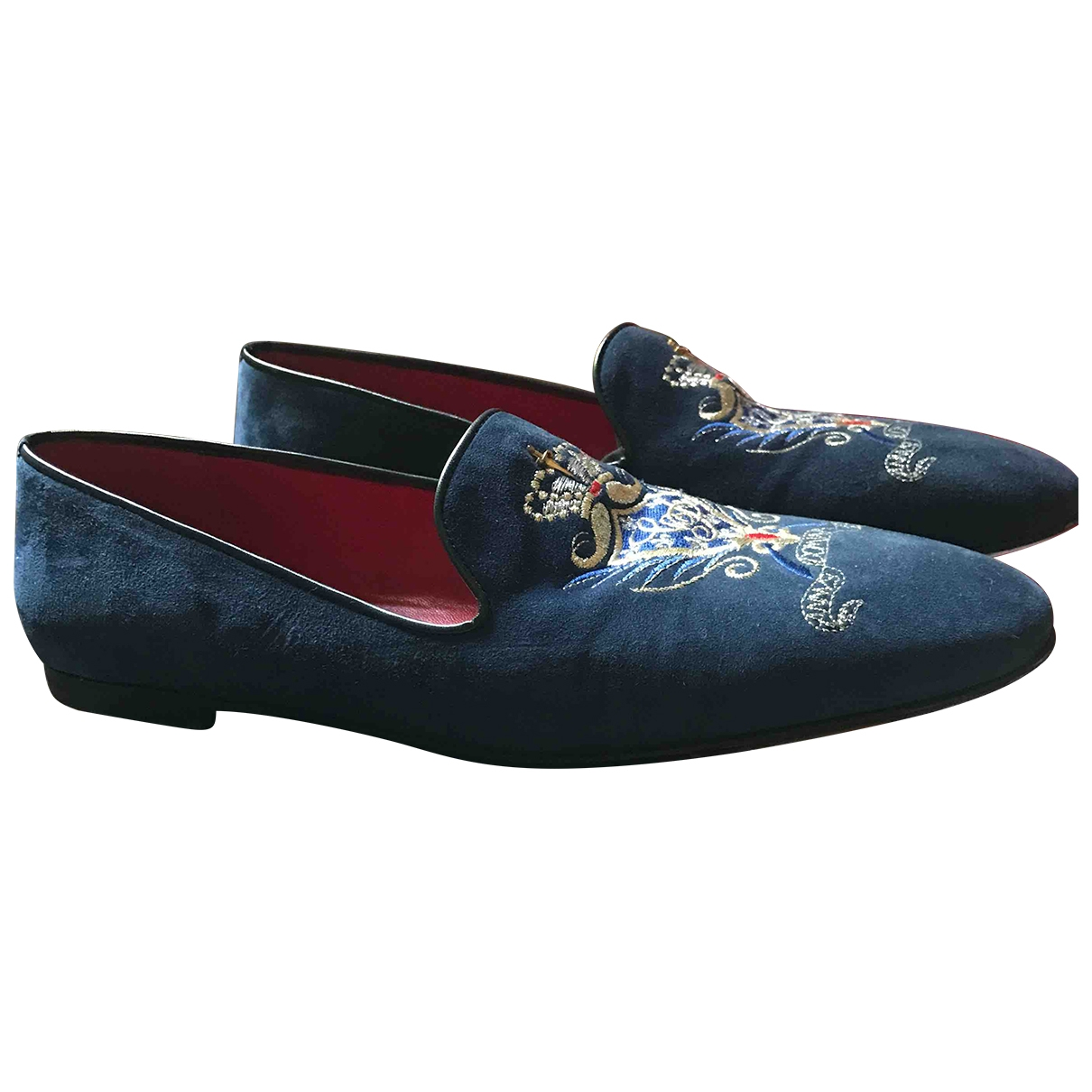 Cesare Paciotti \N Blue Suede Flats for Men 7.5 UK
