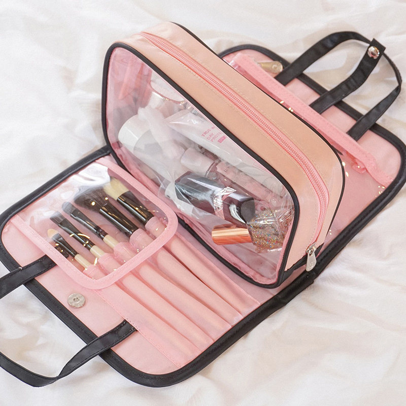 Women Removable Solid Cosmetic Storage Bag Travel Waterproof Travel Bag
