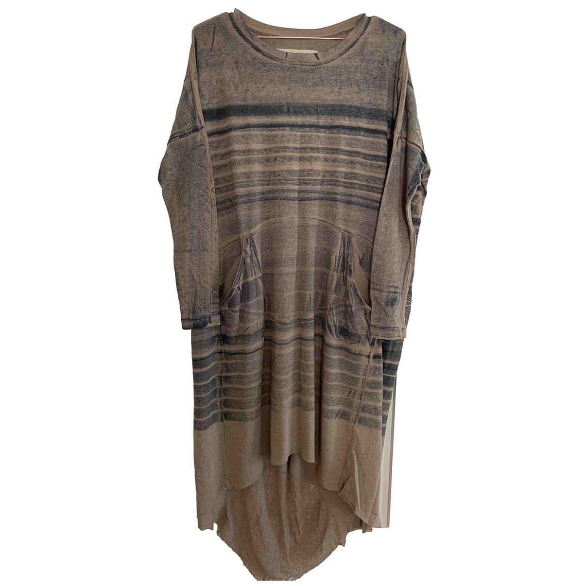 Raquel Allegra \N Beige Cotton dress for Women 1 US