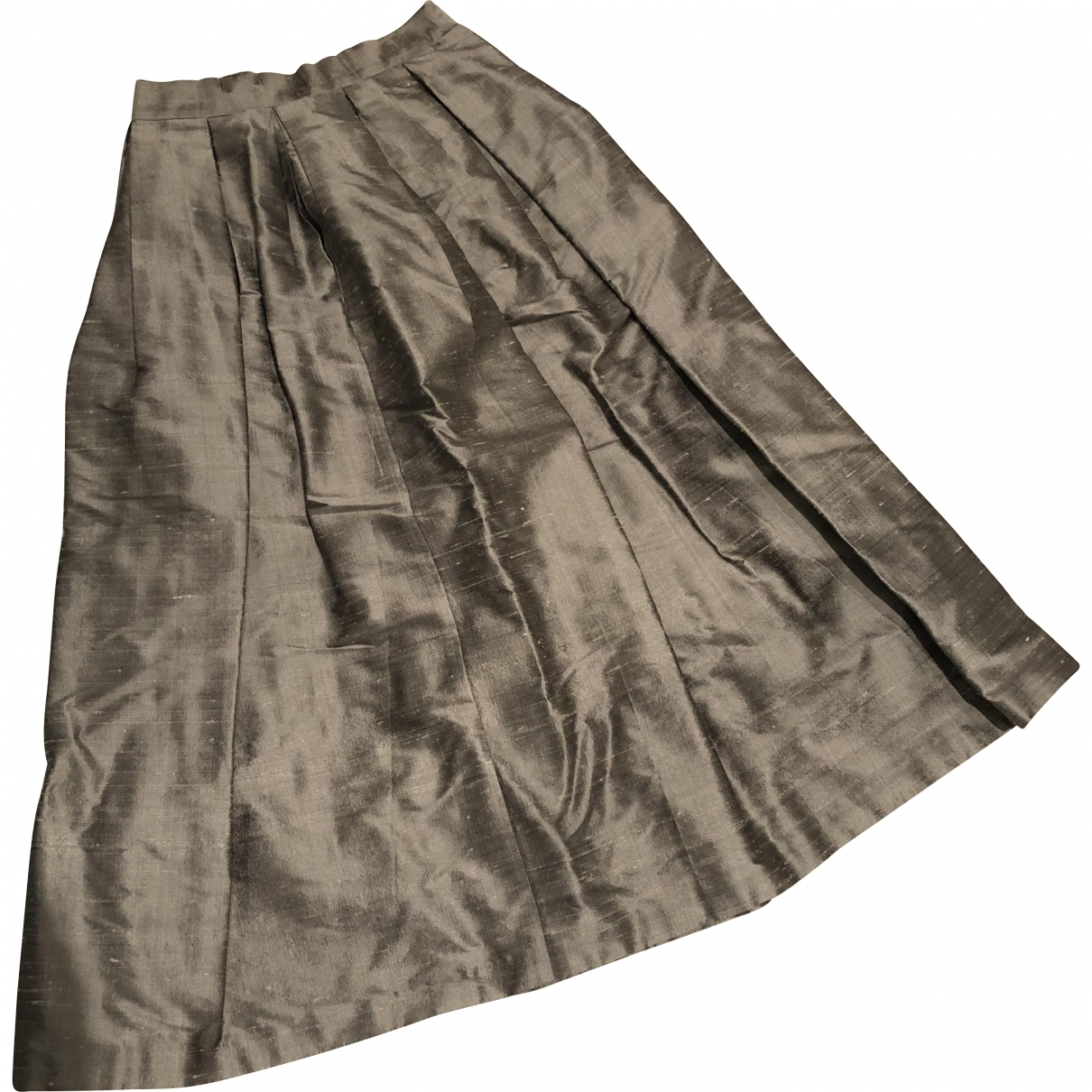 House Of Holland \N Silver Silk skirt for Women 6 UK