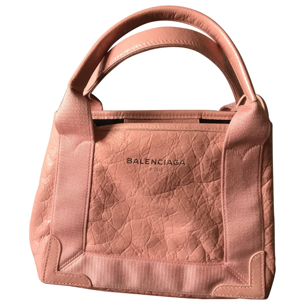 Balenciaga Navy cabas Pink Leather handbag for Women \N