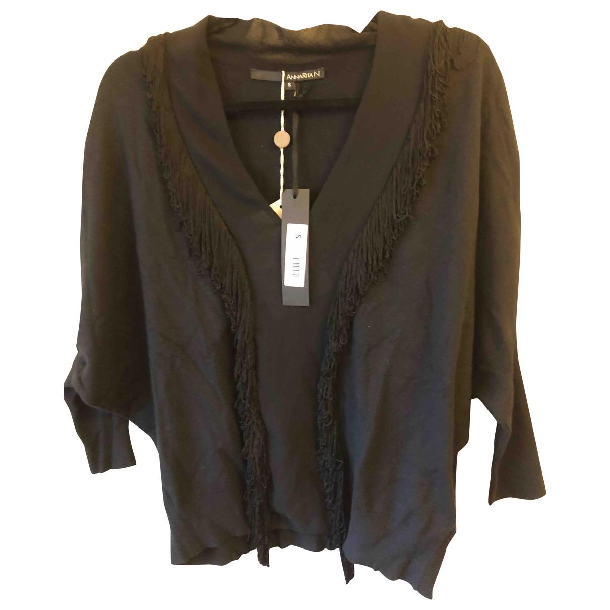 Non Signé / Unsigned Manche ballon Black Knitwear for Women S International