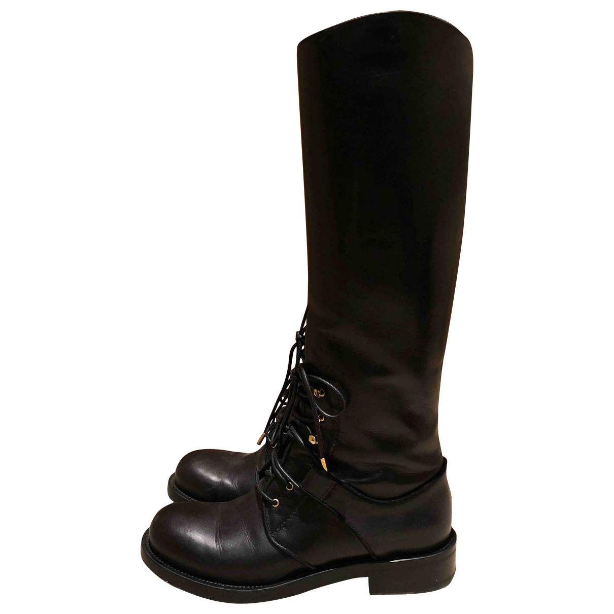 Alexander Mcqueen \N Black Leather Boots for Women 36.5 EU