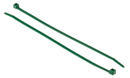 HellermannTyton , T50R Series Green Nylon Cable Tie, 200mm x 4.6 mm
