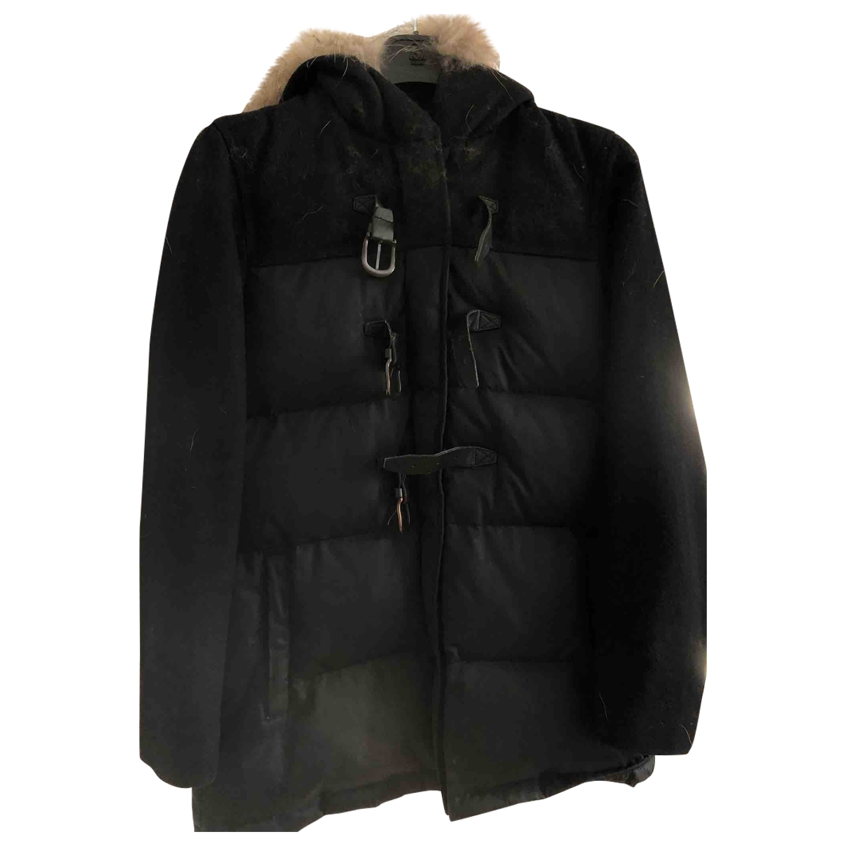 Sandro \N Black Cotton coat for Women 36 FR