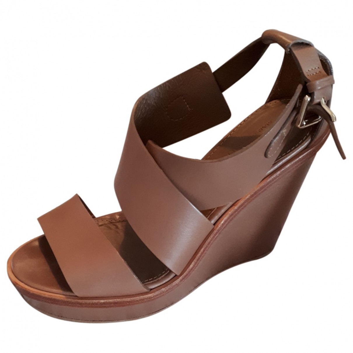 Max Mara \N Camel Leather Sandals for Women 38 EU