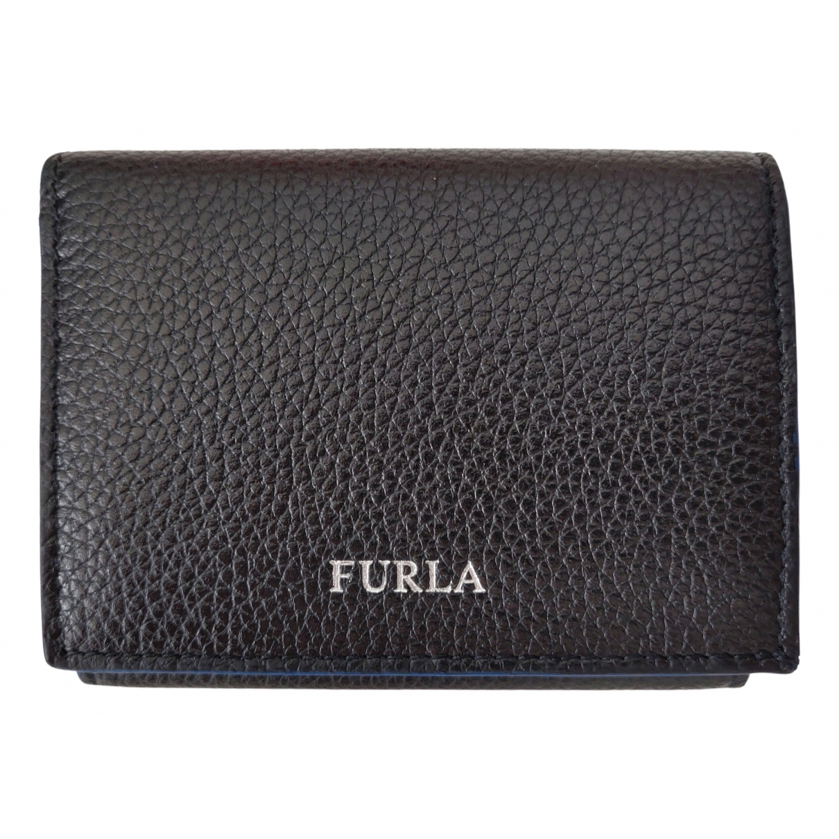 Furla \N Black Leather Small bag, wallet & cases for Men \N