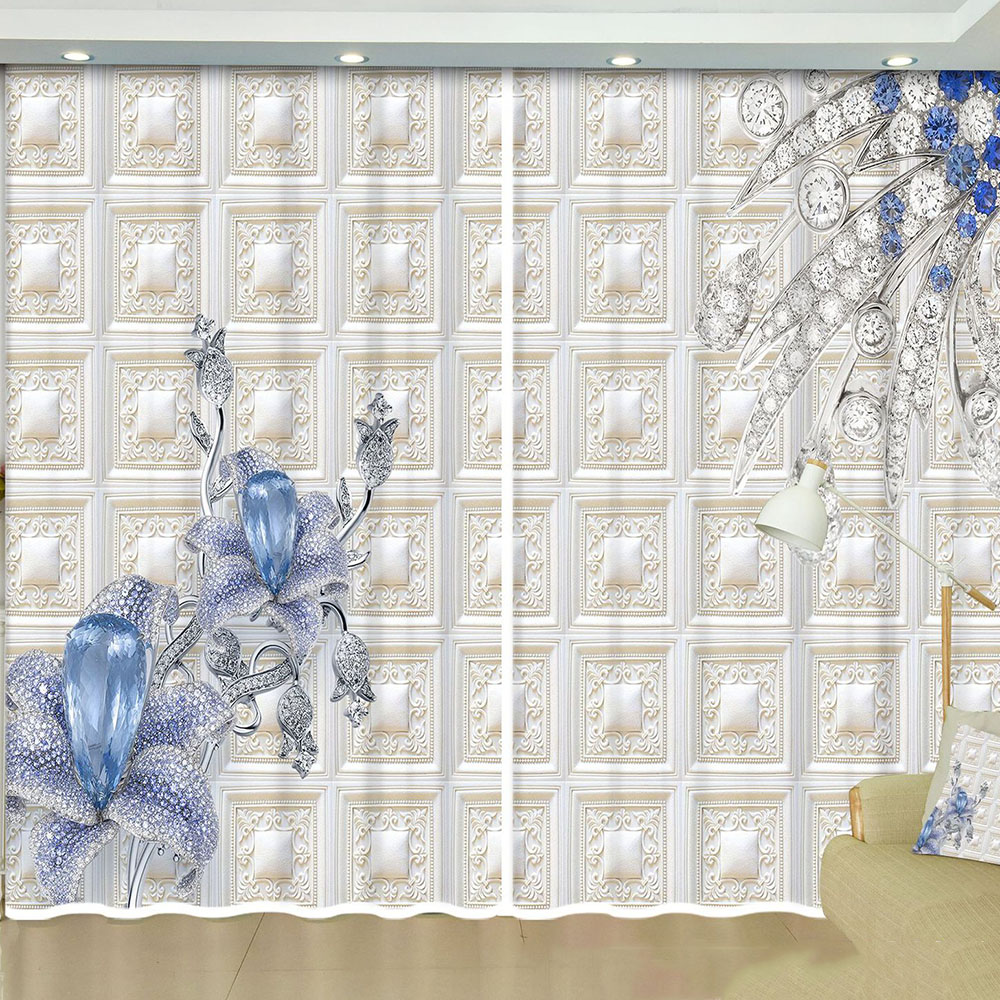 Elegant Blackout Decoration Curtain Drapes for Living Room Bedroom No Pilling No Fading No off-lining