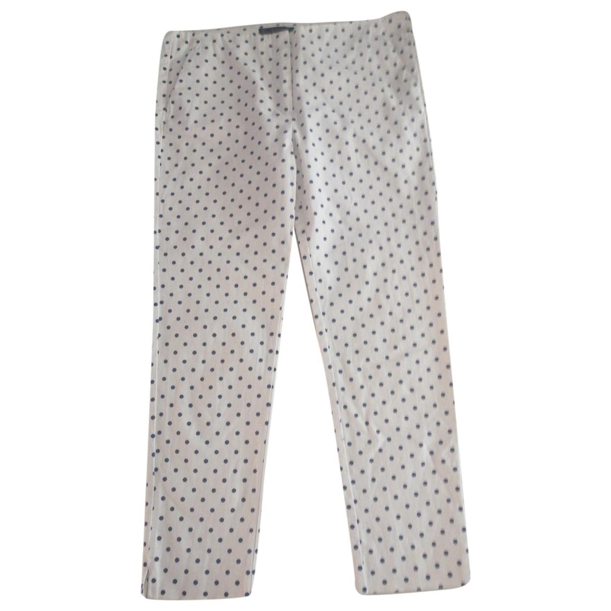 Zara \N White Cotton Trousers for Women L International