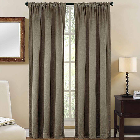 Shale Rod-Pocket Curtain Panel, One Size , Gray