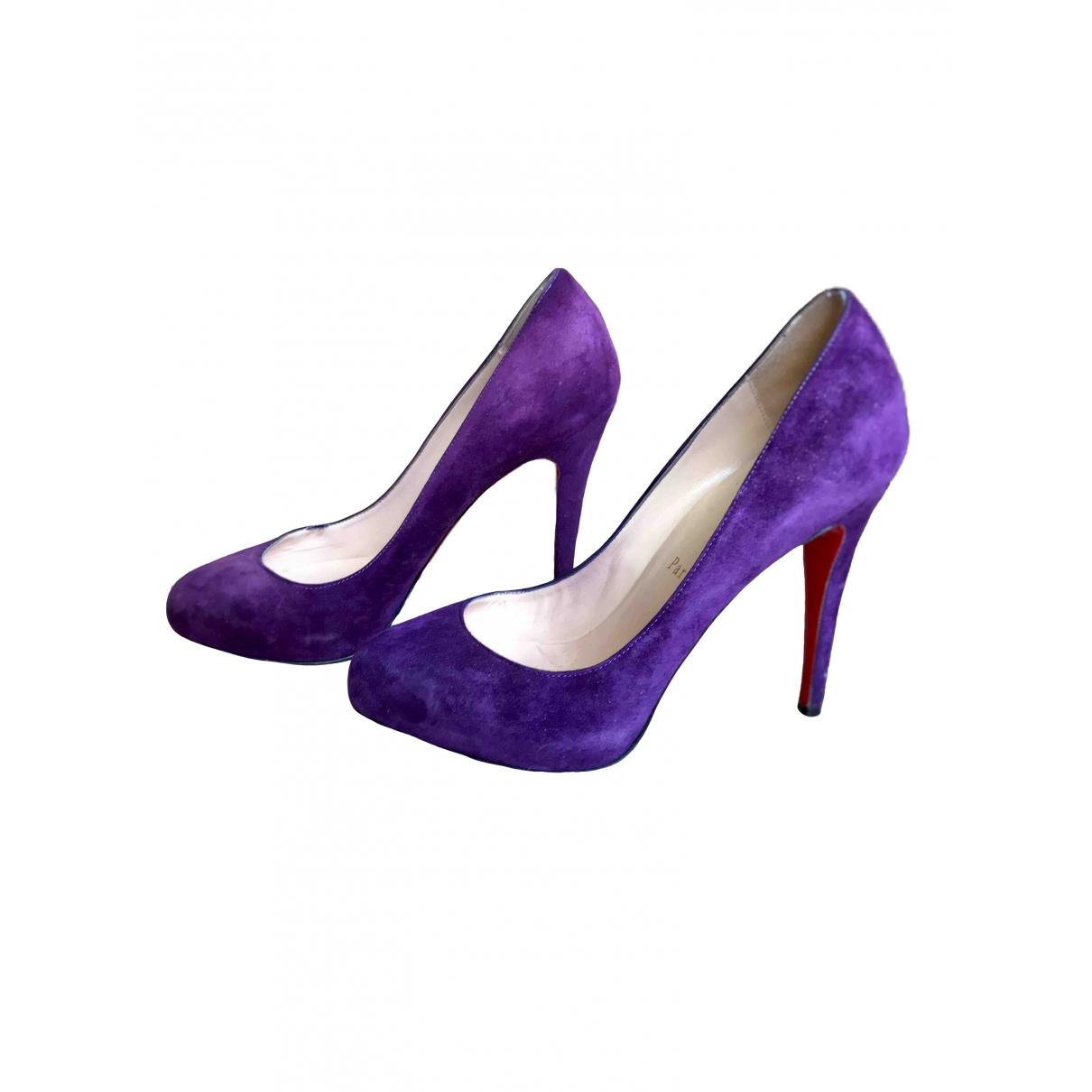 Christian Louboutin Simple pump Purple Suede Heels for Women 37 EU