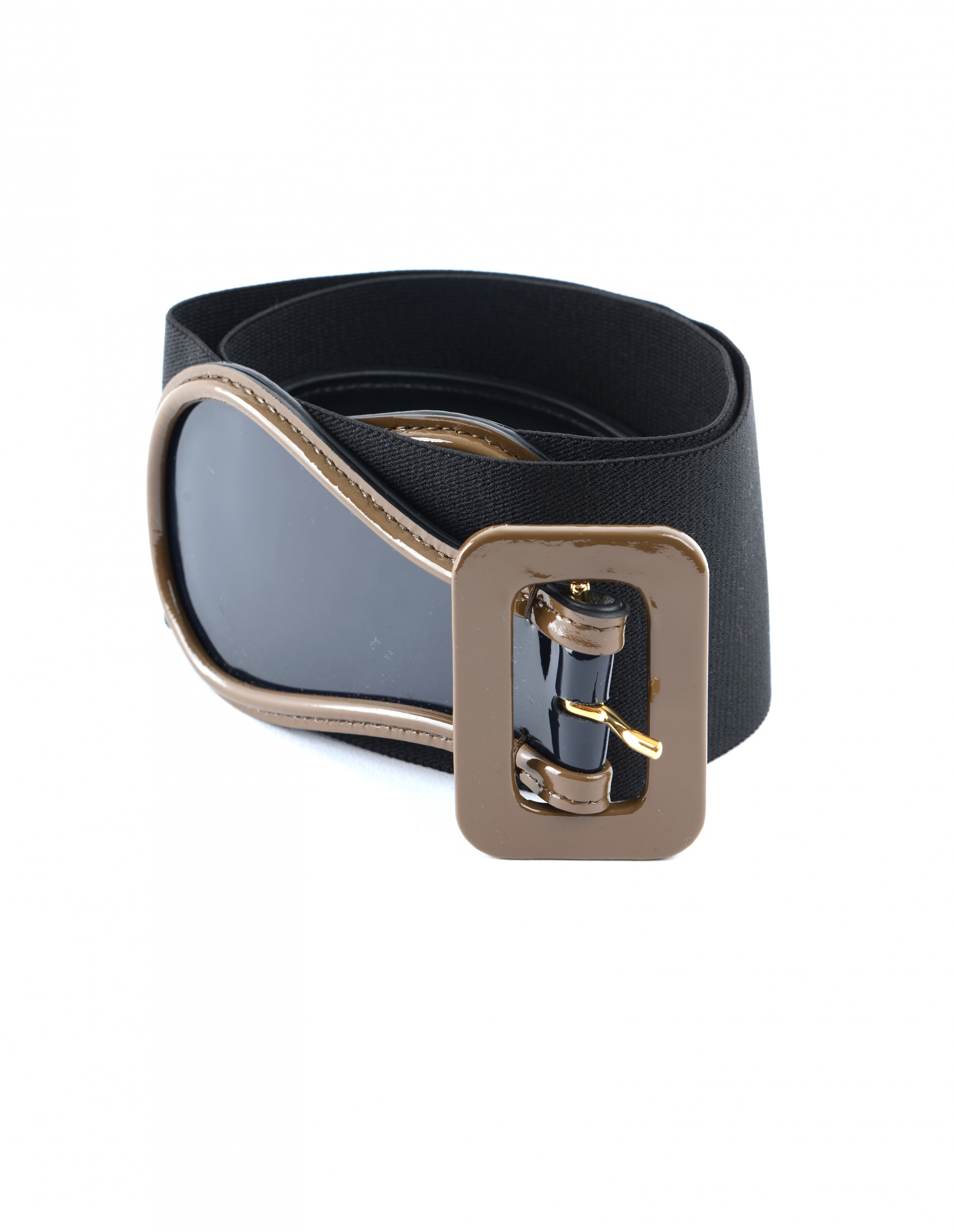 Marni Leather & Textile Elastic Belt