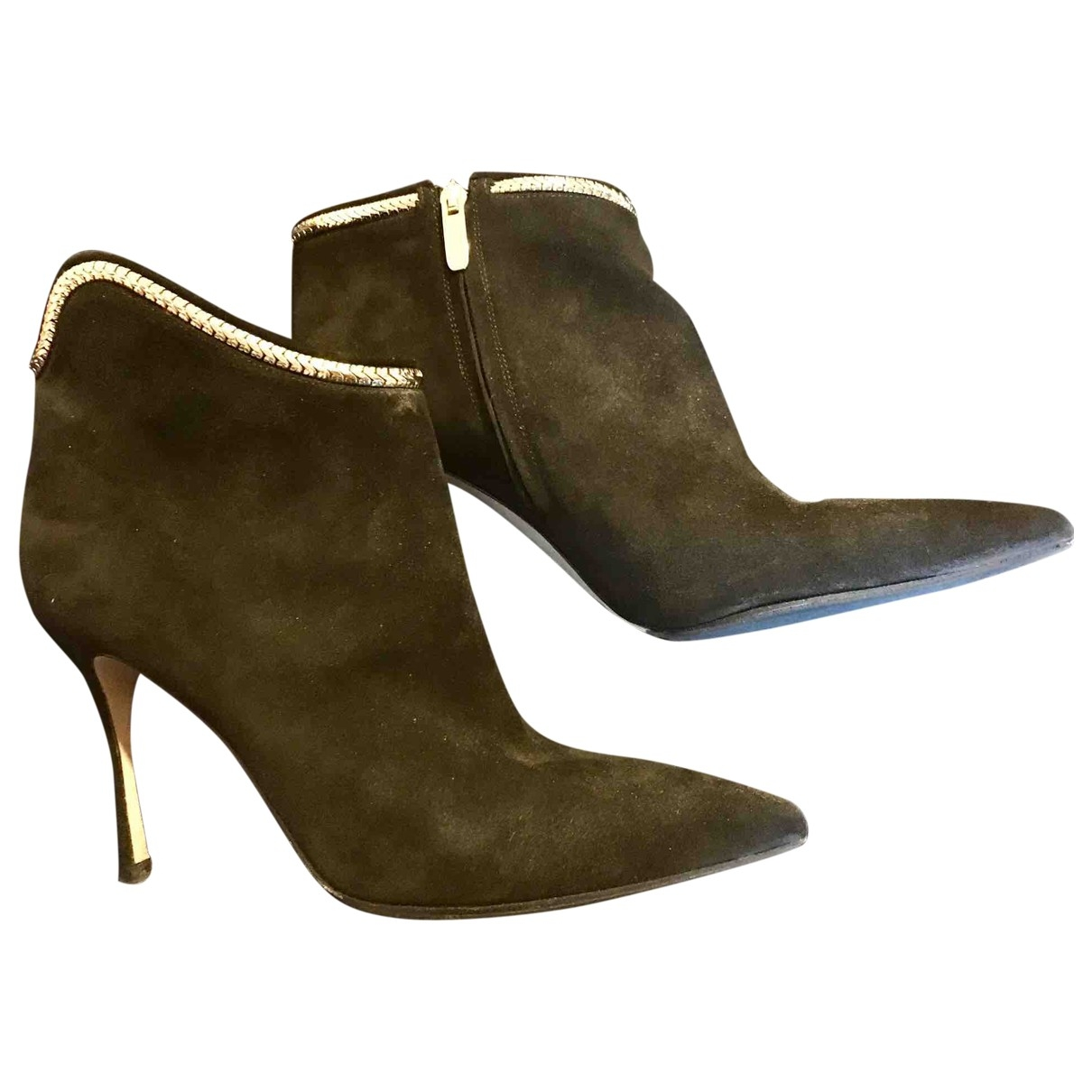 Sergio Rossi \N Black Suede Ankle boots for Women 38 EU