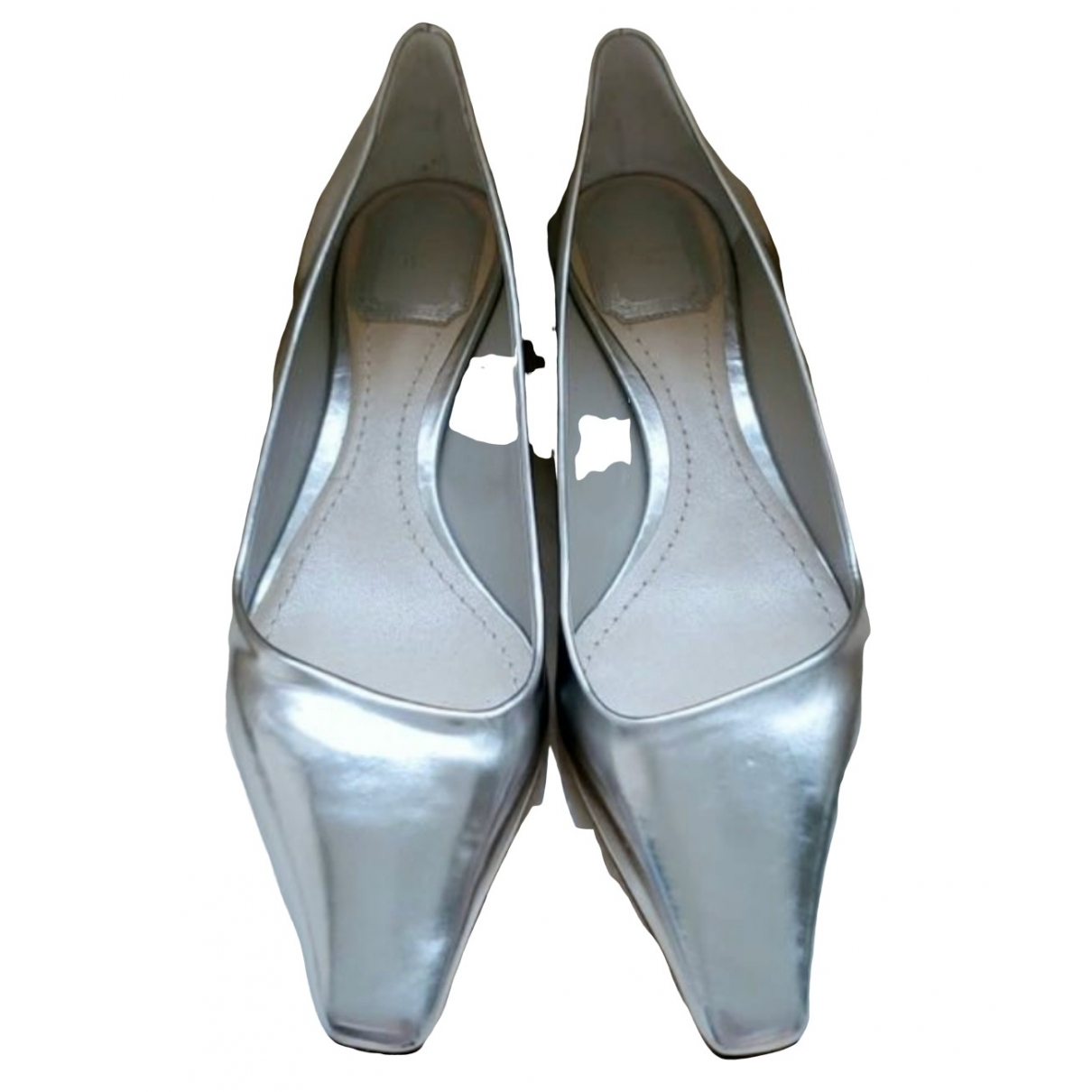 Dior \N Silver Leather Ballet flats for Women 37.5 EU