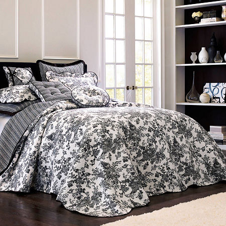Toile Garden Bedspread, One Size , Multiple Colors
