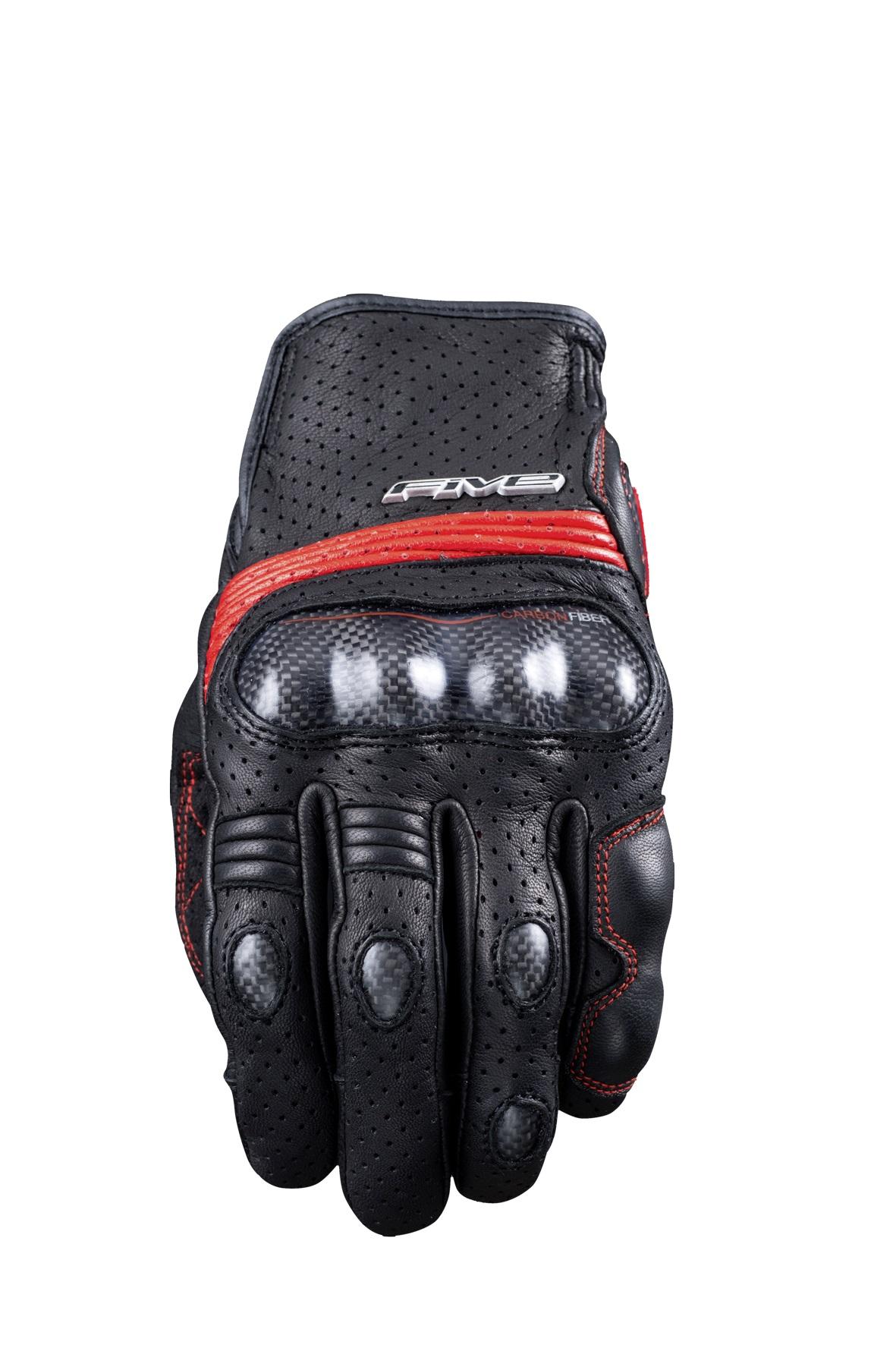Five Sportcity S Carbon Guantes Motorista Negro Rojo S