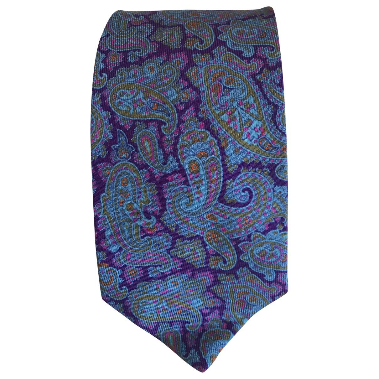 Etro \N Blue Silk Ties for Men \N