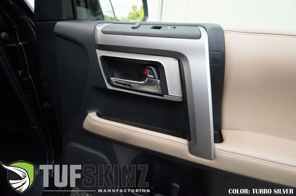 Tufskinz RUN019-GTO-G Door Handle Accent Trim Fits 14-up Toyota 4Runner 4 Piece Kit Turbo Silver Similar to Silver Sky