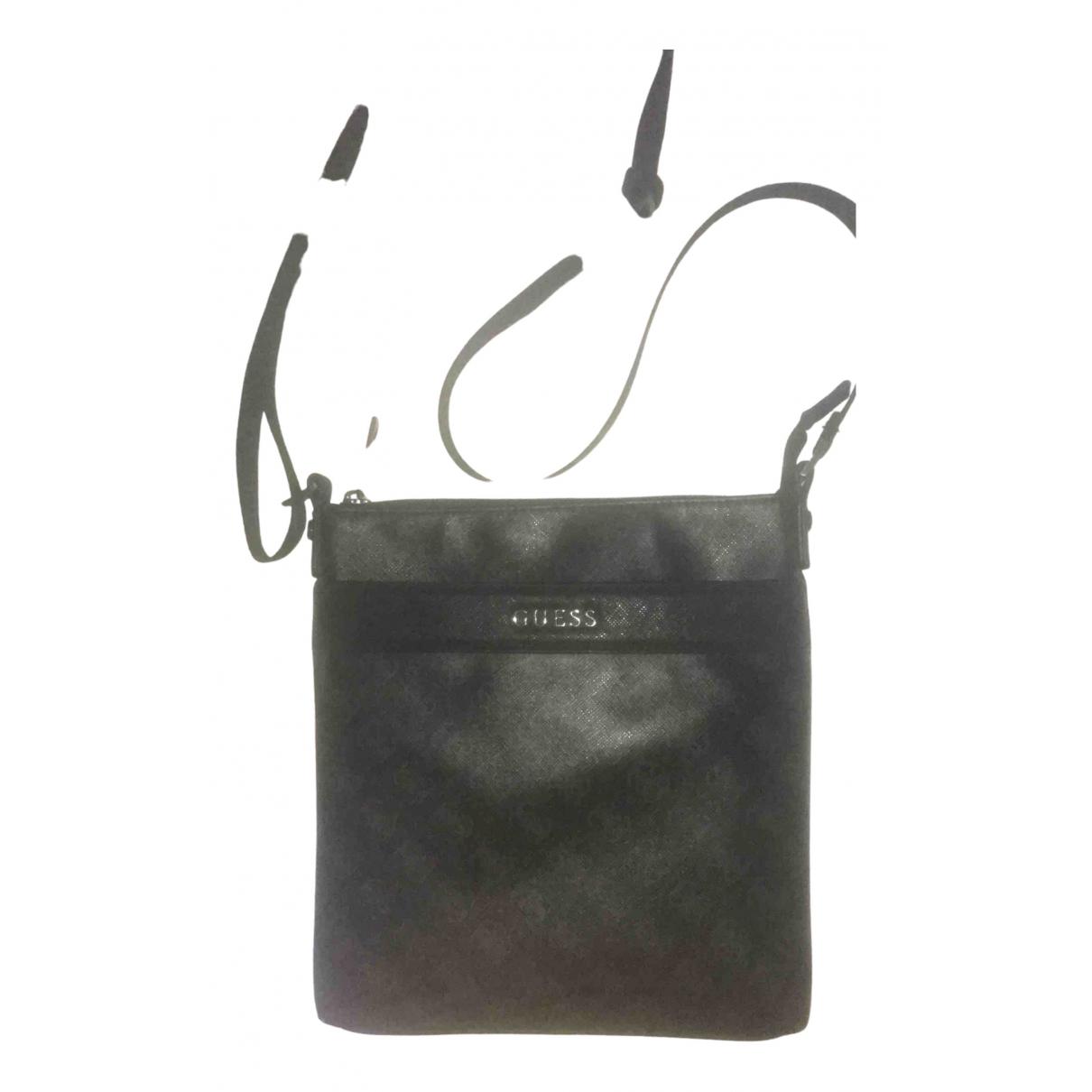 Guess \N Black Leather bag for Men \N