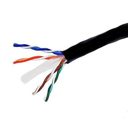 Cat6 23AWG UTP Solid Bulk Cable, CMR-Rated, 500ft - PrimeCables® - Black