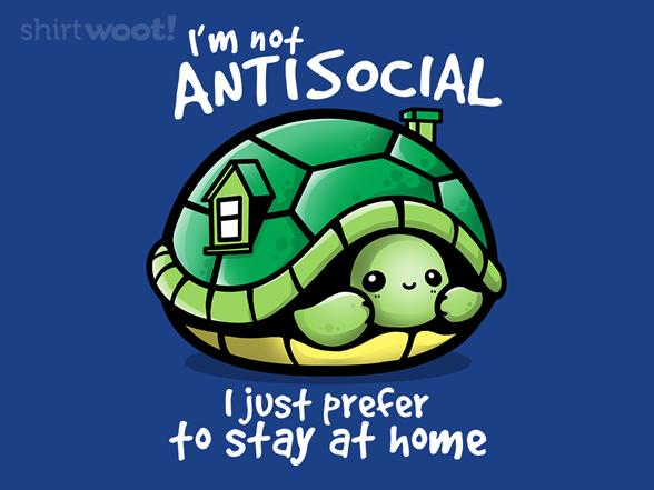 Antisocial Turtle T Shirt