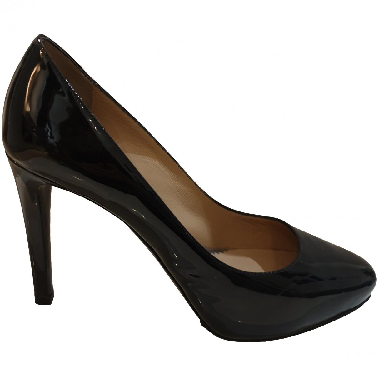 Emporio Armani \N Black Patent leather Heels for Women 36 EU