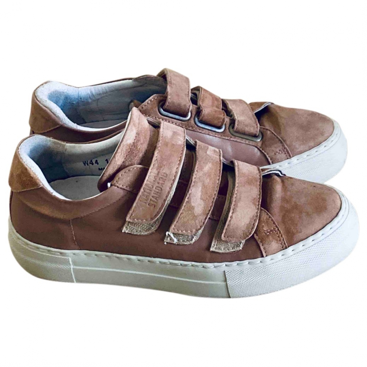 National Standard \N Pink Leather Trainers for Women 37.5 EU