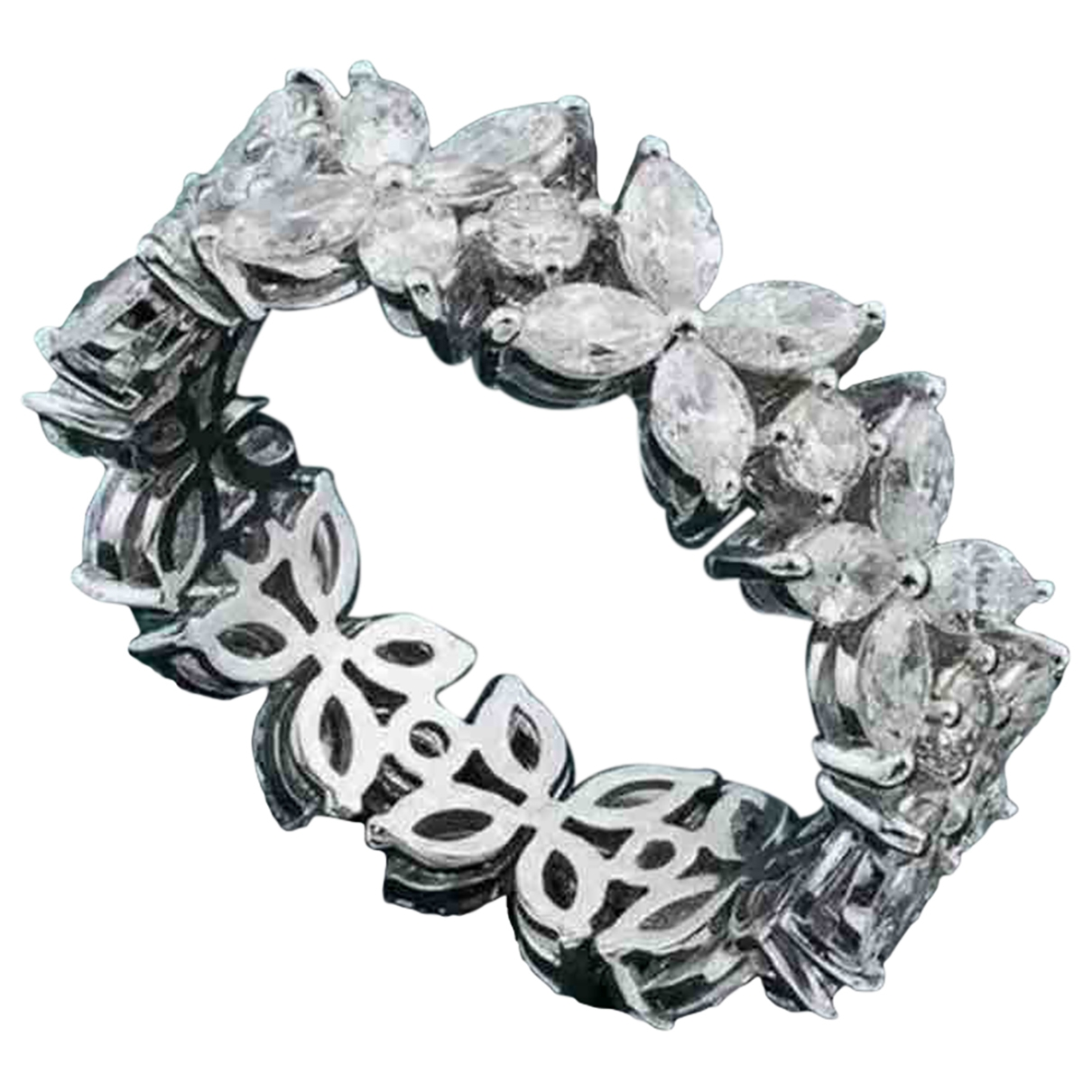 Non Signé / Unsigned Bagues Cocktails Silver White gold ring for Women \N