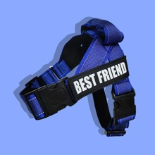 1pc Dog Letter Graphic Reflective Harness