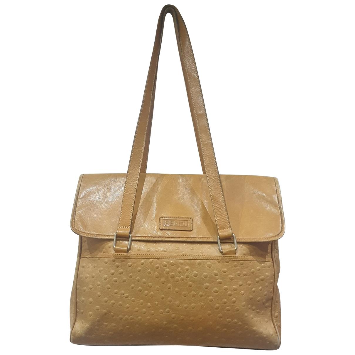 Fendi \N Beige Leather handbag for Women \N