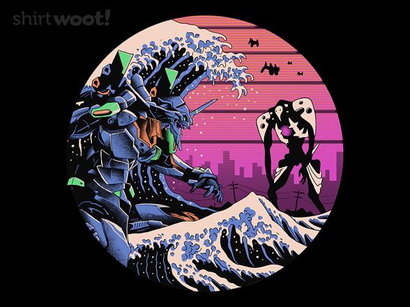 Retro Wave Evangelion T Shirt