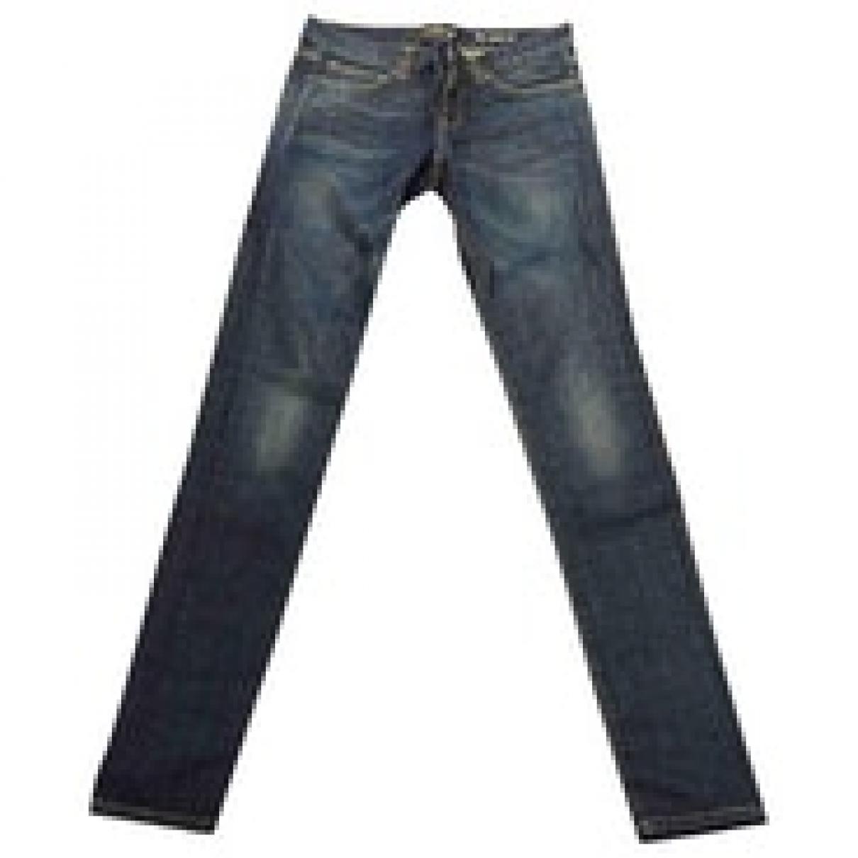 Saint Laurent \N Blue Cotton Jeans for Women 28 US