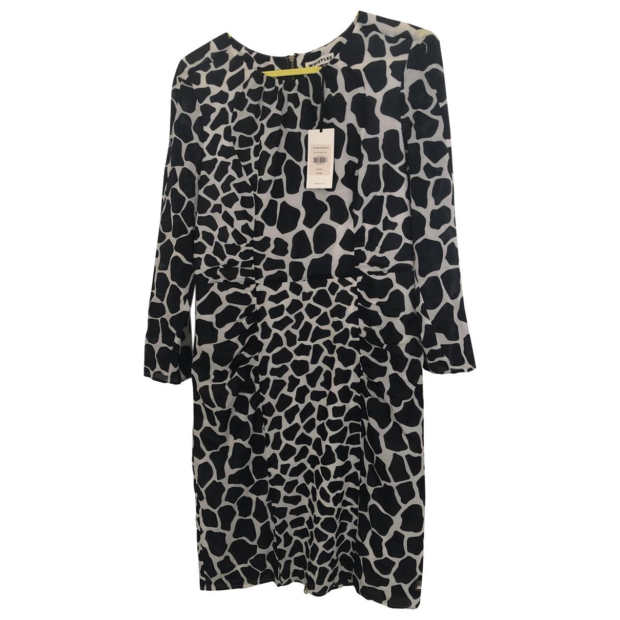 Whistles \N Navy Silk dress for Women 12 UK