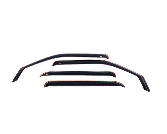 Westin Automotive 72-69497 Wind Deflectors - Slim Design Smoke Nissan Frontier Crew Cab 00-04