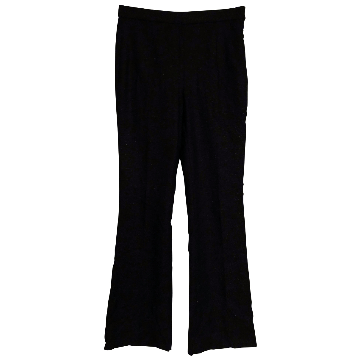 Massimo Dutti \N Black Cotton Trousers for Women 8 US
