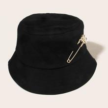 Safety Pin Decor Bucket Hat