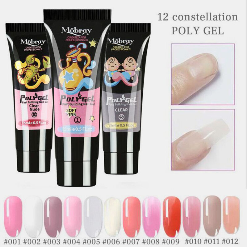 12 Constellation Nail Art Quick Dry Gel LED Clear UV Gel Multicolor Nail Gel Phototherapy Gel