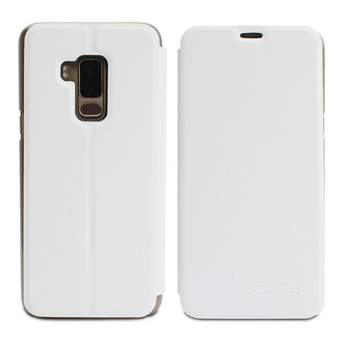 Leather Case Ultra-thin Shockproof Flip Cover Protective Phone Case For BLUBOO S8 - White
