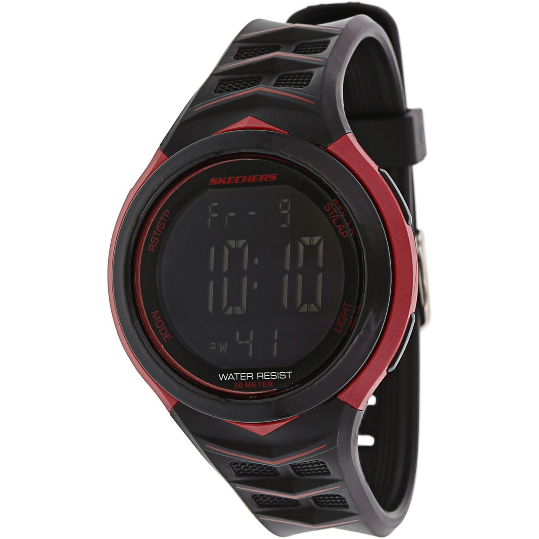 Skechers Watch SR1083 Anderson Digital Display, Chronograph, Alarm, Water Resistant, Black/Red