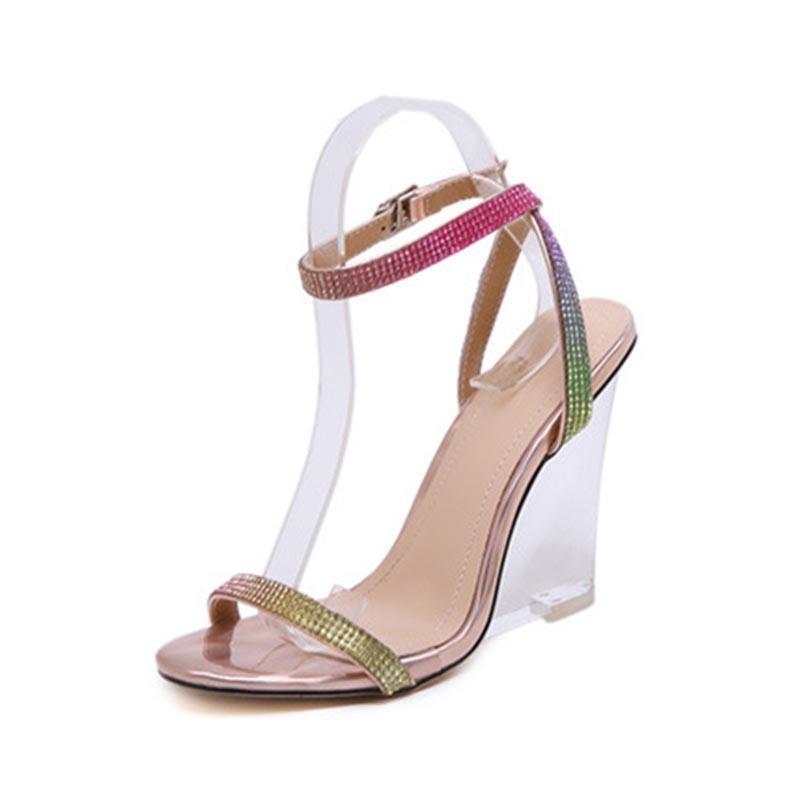 Ericdress Wedge Heel Buckle Open Toe Sandals