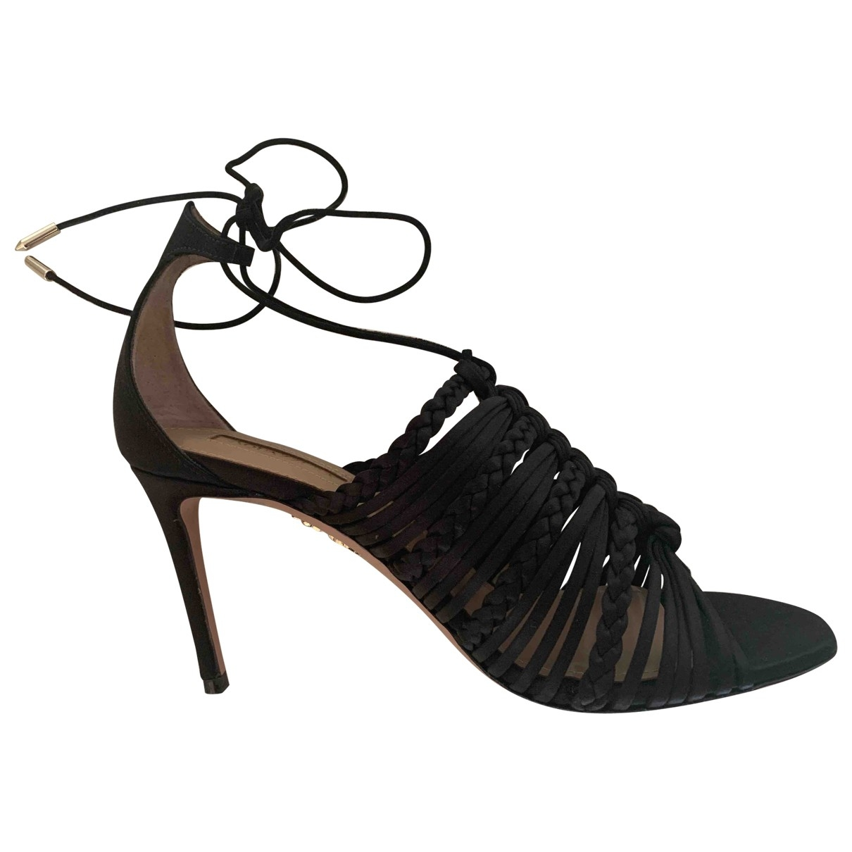 Aquazzura \N Black Leather Sandals for Women 36 IT