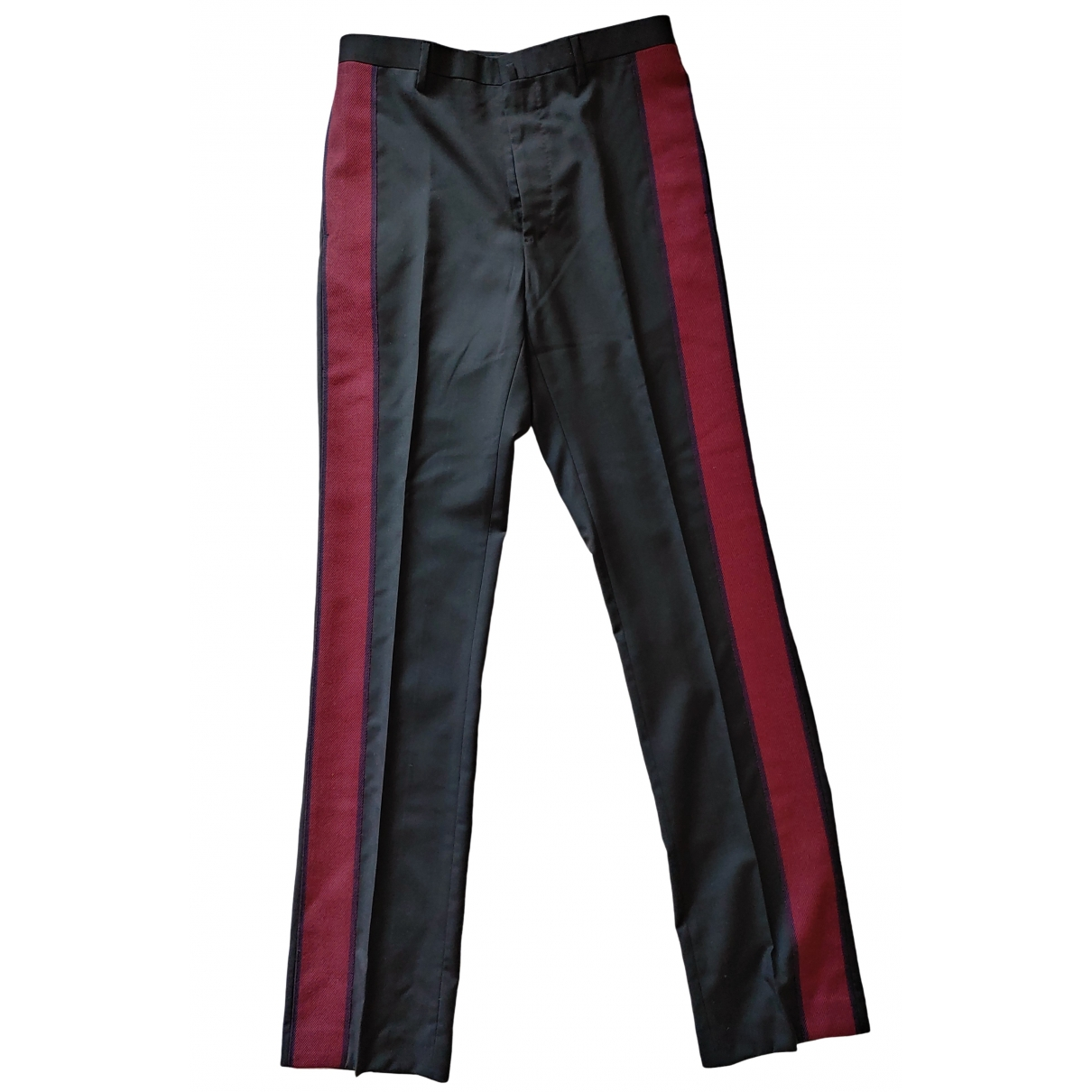 Lanvin \N Anthracite Wool Trousers for Men 44 IT
