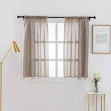 Gingham Pattern Single Panel Curtain