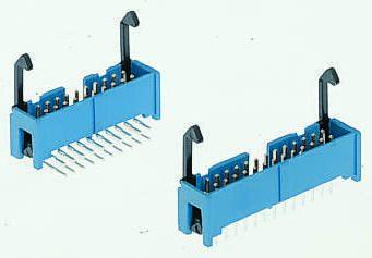 TE Connectivity , AMP-LATCH, 50 Way, 2 Row, Straight PCB Header